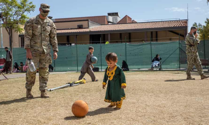 Children play at the Sigonella air base.