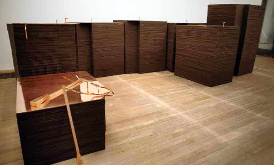 FOND VII/2 (1967-84), felt and copper. Photograph by Dan Chung for the Guardian