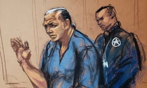 Cesar Sayoc in court in Manhattan.He said he never intended for the devices to explode.
