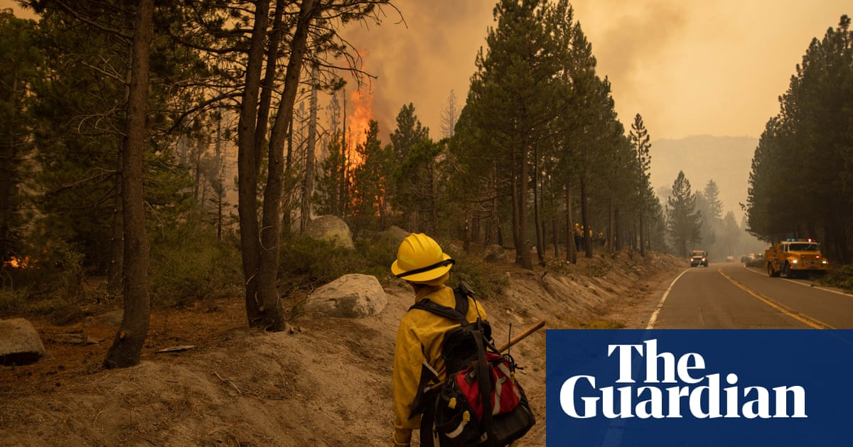Strong winds push surging Caldor fire closer to Lake Tahoe