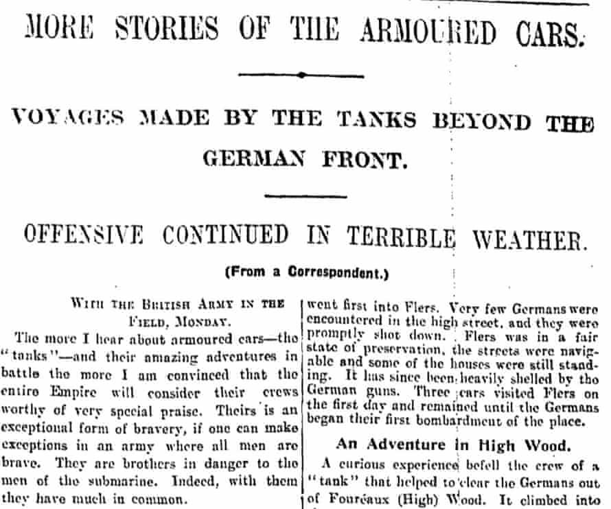 Manchester Guardian, 21 September 1916.