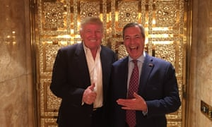 Donald Trump and Nigel Farage in New York on 12 November 2016