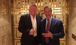 Nigel Farage meets Donald Trump