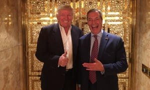 'He was relaxed and full of good ideas. I am confident he will be a good President,' tweeted Nigel Farage after he met Donald Trump at Trump Tower.