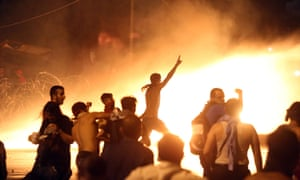Lebanese protesters clash with riot police following a demonstration organised by the 'You Stink' campaign on Sunday 23 August.