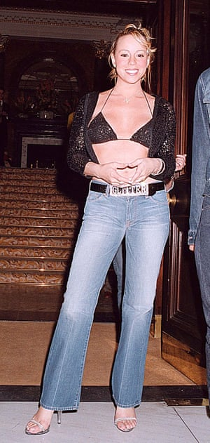 Mimi's noughties diamante belt and barely there sandal game was strong, taken in 2001.