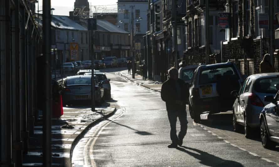 Ebbw Vale high street, Blaenau Gwent.