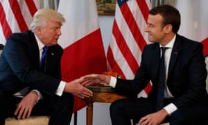 Donald Trump and Emmanuel Macron