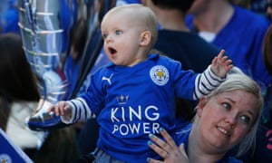 A young Leicester City fan takes in the spectacle