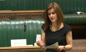 Jo Cox speaking in parliament.