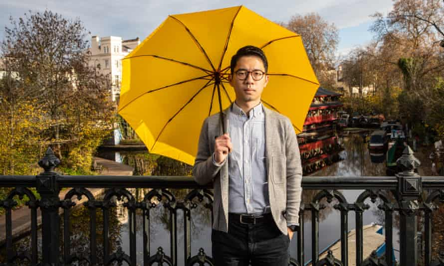 Nathan Law photographed in London, where he now lives in exile.