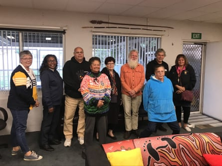 Narrabri Local Aboriginal Land Council board and community members with Bruce Pascoe