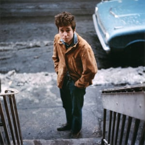 In the beginning: an unused shot for the cover of Dylan's second album, the Freewheelin'.