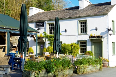 The Masons Arms at Strawberry Bank, South Lakeland, Lake District National Park, Cumbria, England