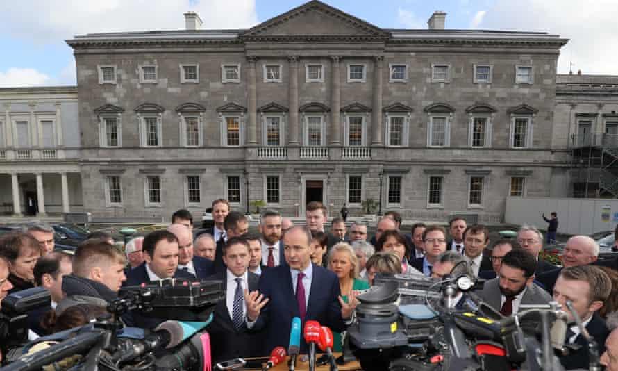Fianna Fáil leader Micheál Martin outside Leinster House last week.
