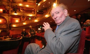 Brian Friel is pictured here in Belfast's Grand Opera House. A production of Dancing at Lughnasa is due to begin a run in the Dublin theatre festival next week.
