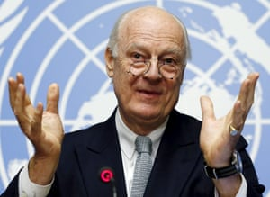 A balancing act: Staffan de Mistura will have to weigh up the interests of all groups to keep negotiations together in Geneva.