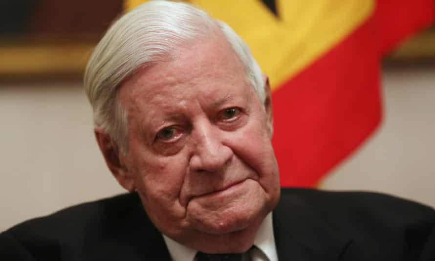 Helmut Schmidt at a reception in Berlin to celebrate his 95th birthday last year.