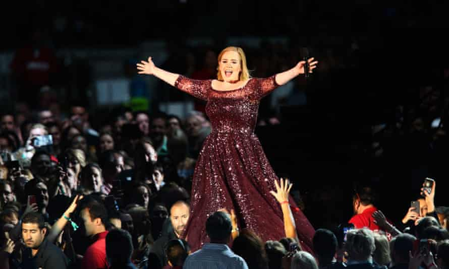 Thank God! That was stuffy! Adele finally makes it on stage.