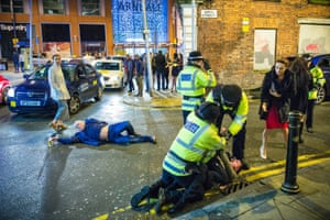 The right place at the right time … Joel Goodman's shot of New Year's Eve on Well Street in Manchester, which has been shared around the world.