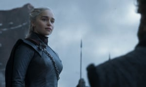 Emilia Clarke as Daenerys Targaryen in the series finale of Game of Thrones