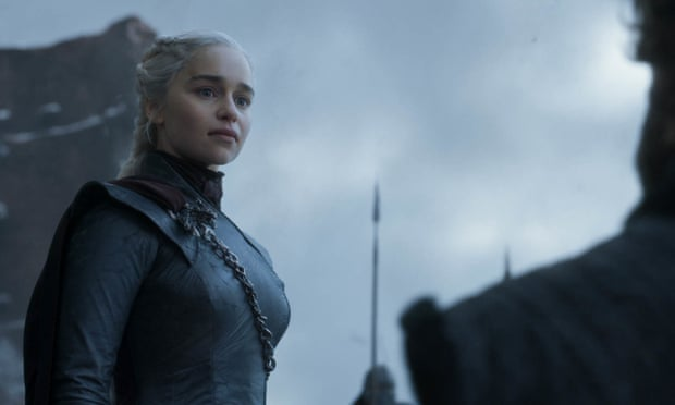 Emilia Clarke as Daenerys Targaryen in the series finale of Game of Thrones