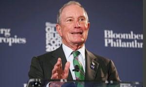 Michael Bloomberg speaks at a forum in New York on 26 September.
