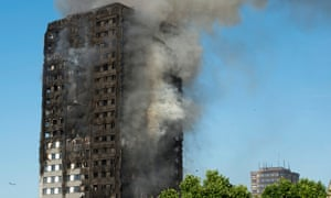 The fire at the Grenfell Tower apartment block in London