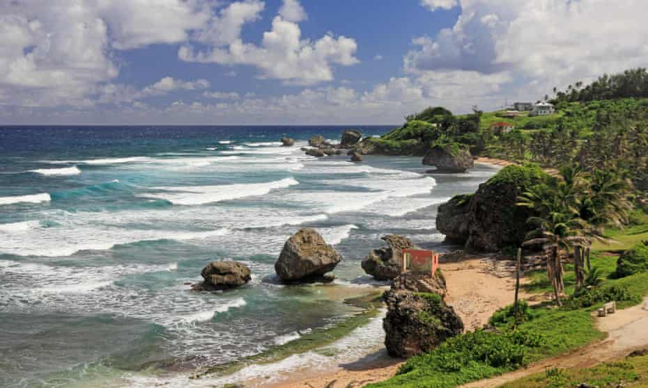 Wave machine … Barbados's east coast is rocky, wild and less well trodden.