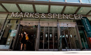 A Marks and Spencer store in central London.