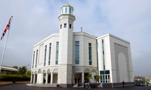 The Baitul Futuh mosque in south London, built by the Ahmadi Muslim community.