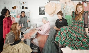 Molly Goddard and friends shot in her designs at her studio