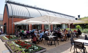 The cafe terrace at the Horniman.