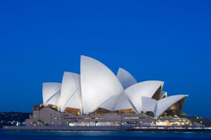 The Opera House in the early evening