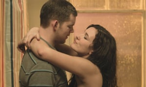Sarah Solemani with Russell Tovey in Him And Her.