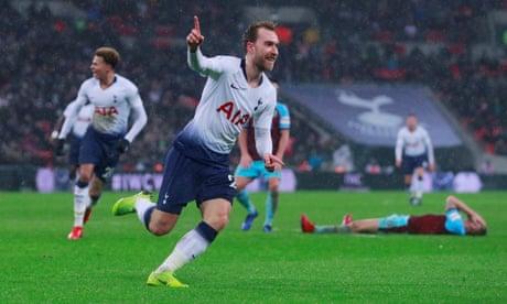 Christian Eriksen's late strike gives Tottenham win over Burnley