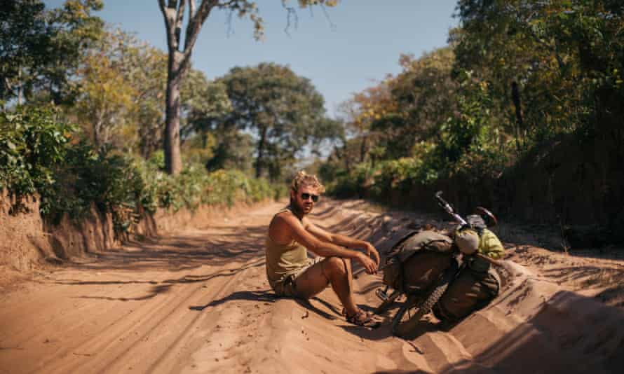 Charlie Walker on his round the world cycling trip.