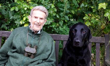 David Cobham with his dog Donald