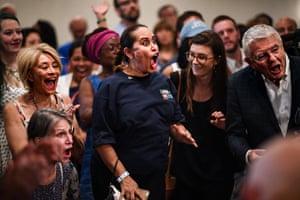 Supporters of Democrat Senator Bill Nelson