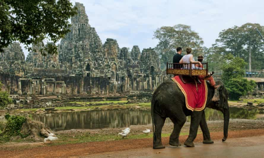 Pack your trunk: sadly elephant rides like this one at Siem Reap, Cambodia are not a very good idea, according to Intrepid Travel.