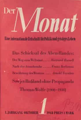 German journal Der Monat (1948–1987)
