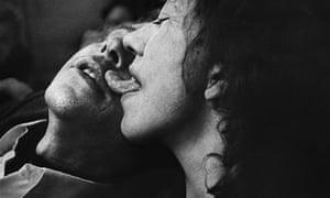 Uschi with her husband, Cafe Lehmitz, 1970