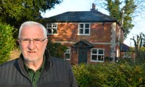Peter Richardson outside his property in Howe Hill