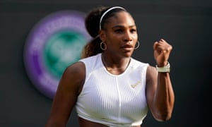 Serena Williams celebrates during her 2-6, 6-2, 6-4 against Kaja Juvan of Slovenia