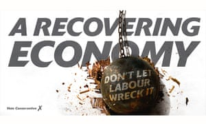 The Tories' wrecking ball poster.