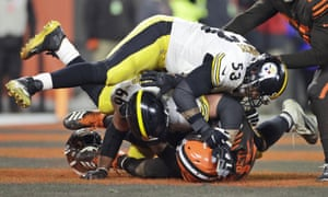 Maurkice Pouncey (53) was suspended for his part in the brawl at the end of last month's Steelers-Browns game