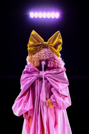 In a rare appearance, Sia performs her latest single Courage to Change