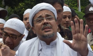 Leader of the Indonesian Muslim hardline Islamic Defenders Front, Rizieq Shihab