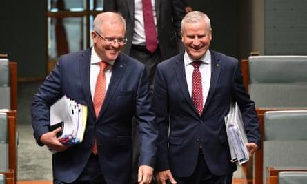 Prime minister Scott Morrison and deputy prime minister Michael McCormack