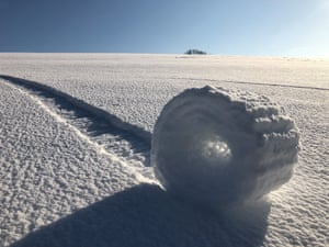 Snow Rollers in Wiltshire by Brian Bayliss